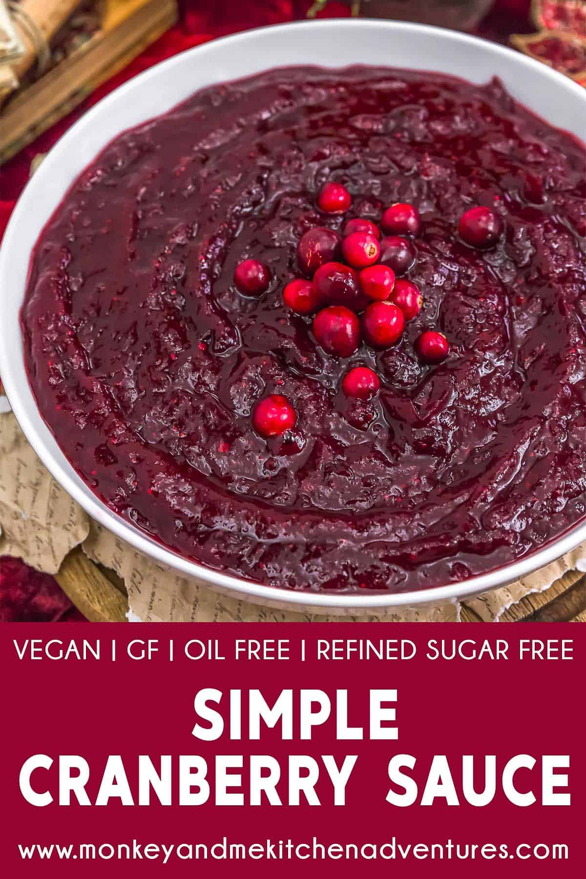 Simple Cranberry Sauce with text description