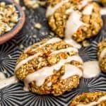 Close up of Vegan Carrot Cake Cookies