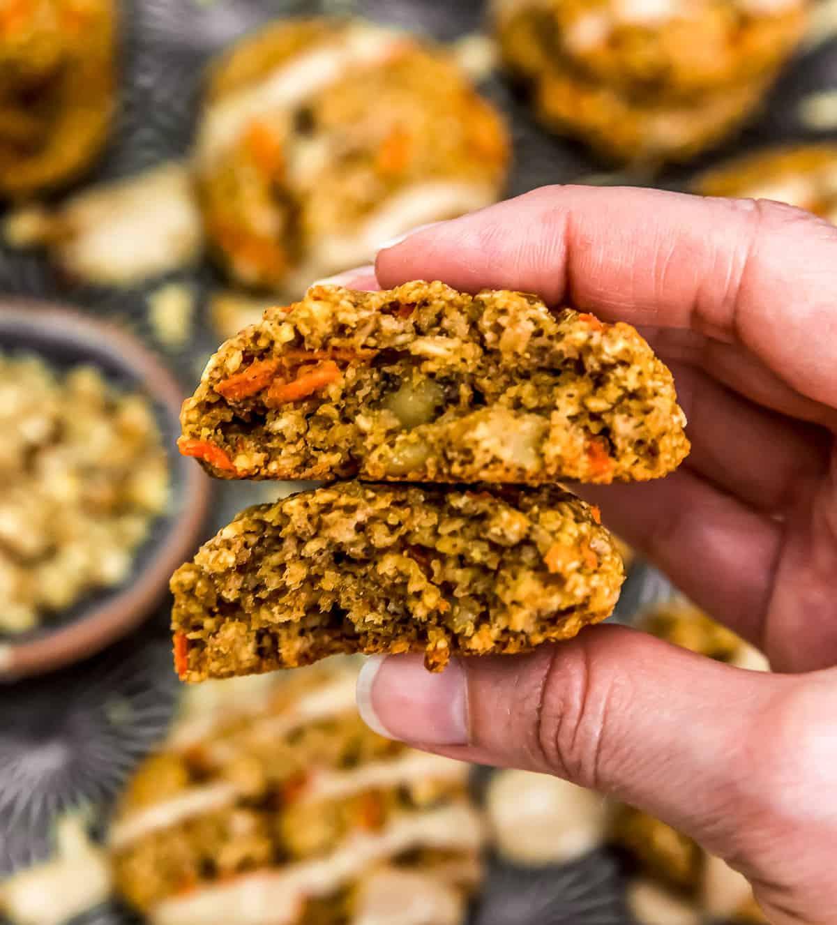 Eating Vegan Carrot Cake Cookies