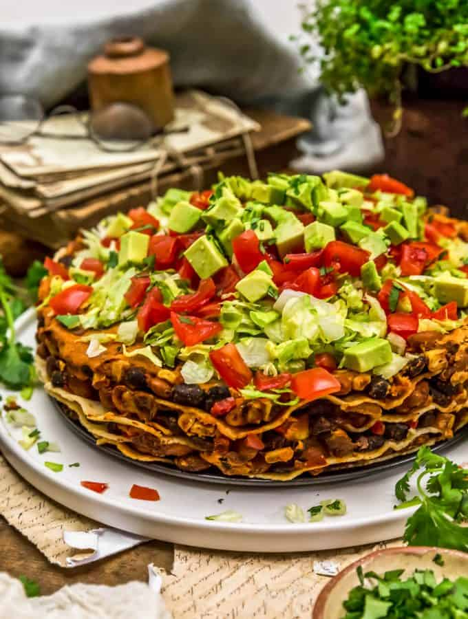 Layered Vegan Taco Pie