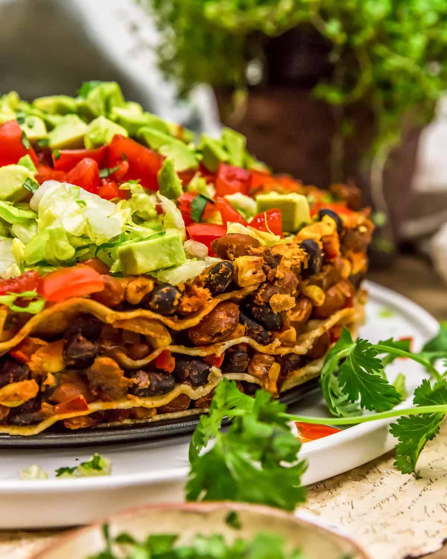 Close up of Vegan Taco Pie
