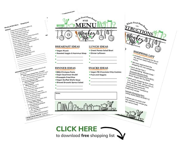 Monkey and Me's Menu 103 PDF Display