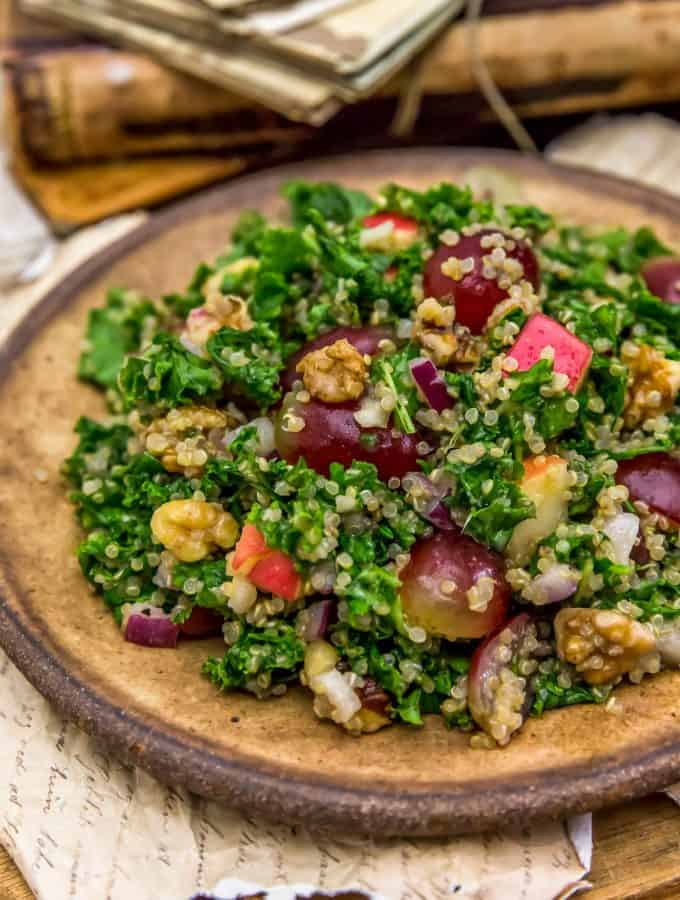 Harvest Kale Quinoa Salad