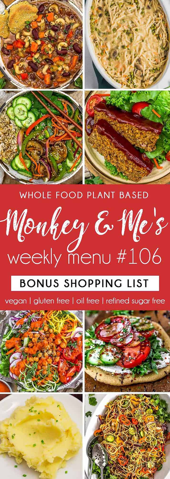 Monkey and Me's Menu 106 featuring 8 recipes