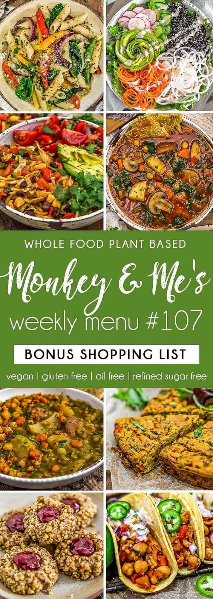 Monkey and Me's Menu 107 featuring 8 recipes