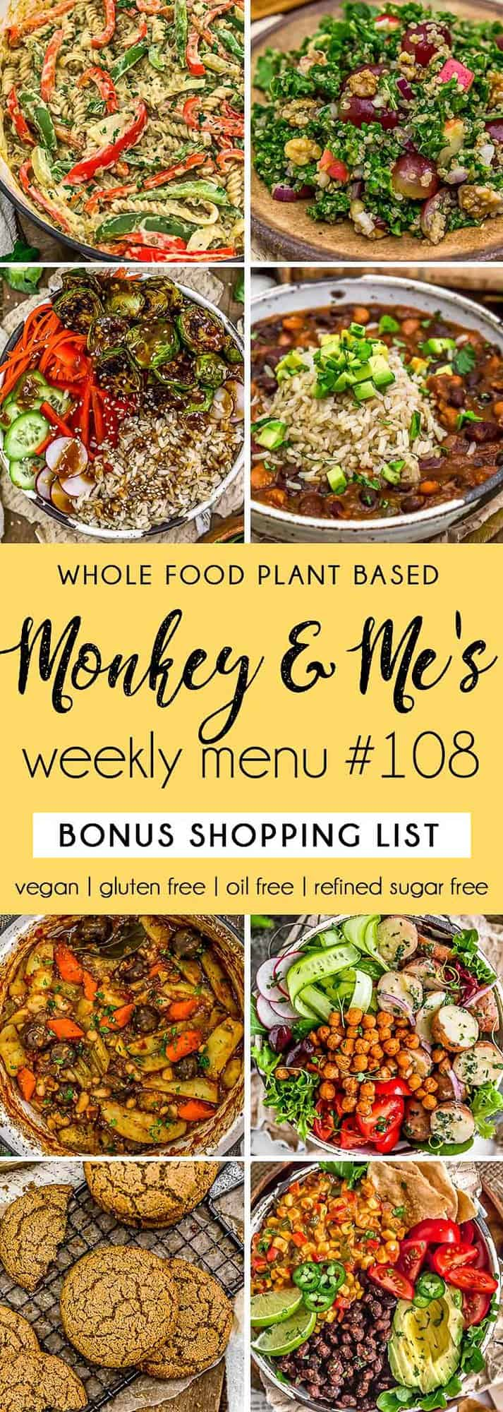 Monkey and Me's Menu 108 featuring 8 recipes