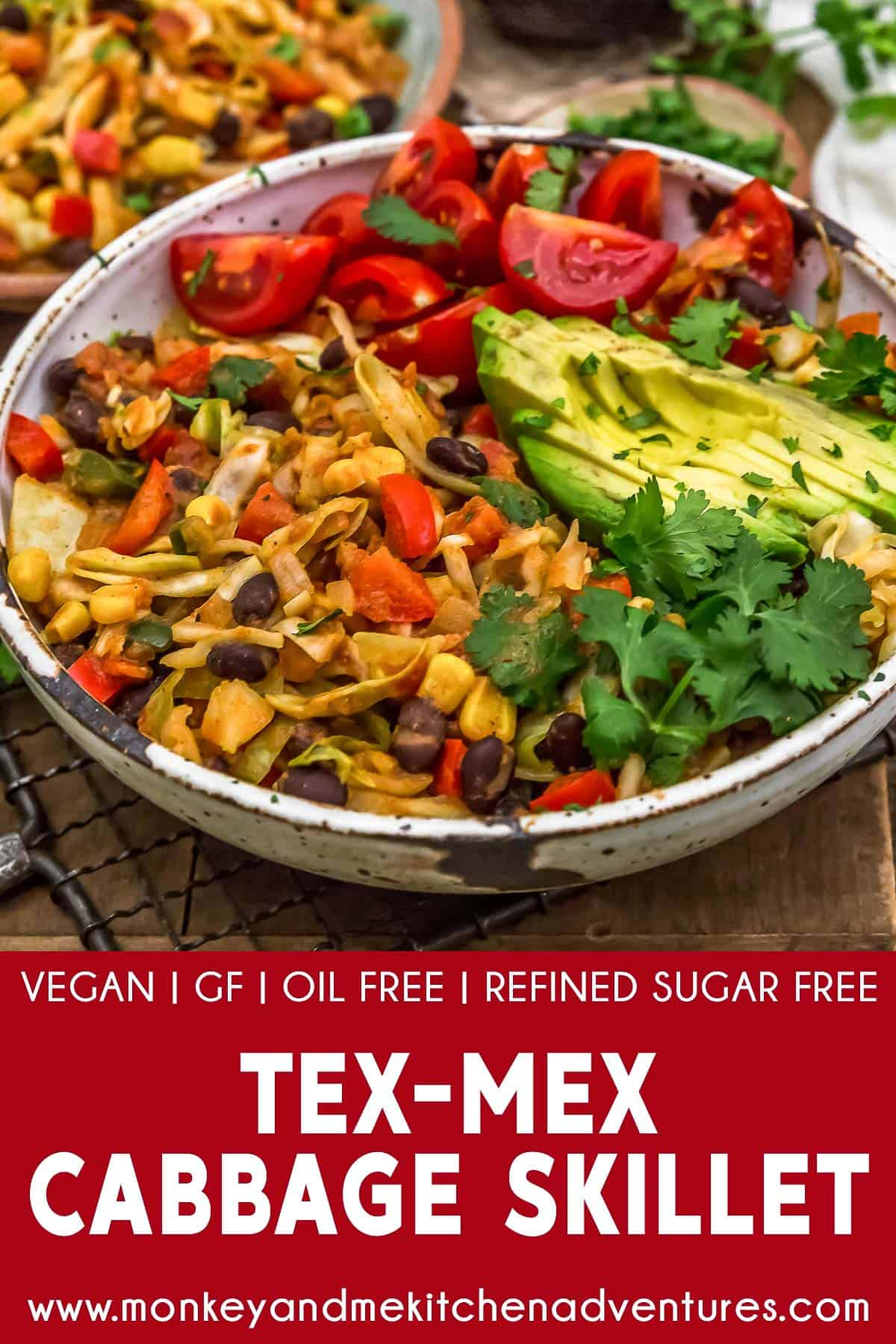 Tex-Mex Cabbage Skillet with text description