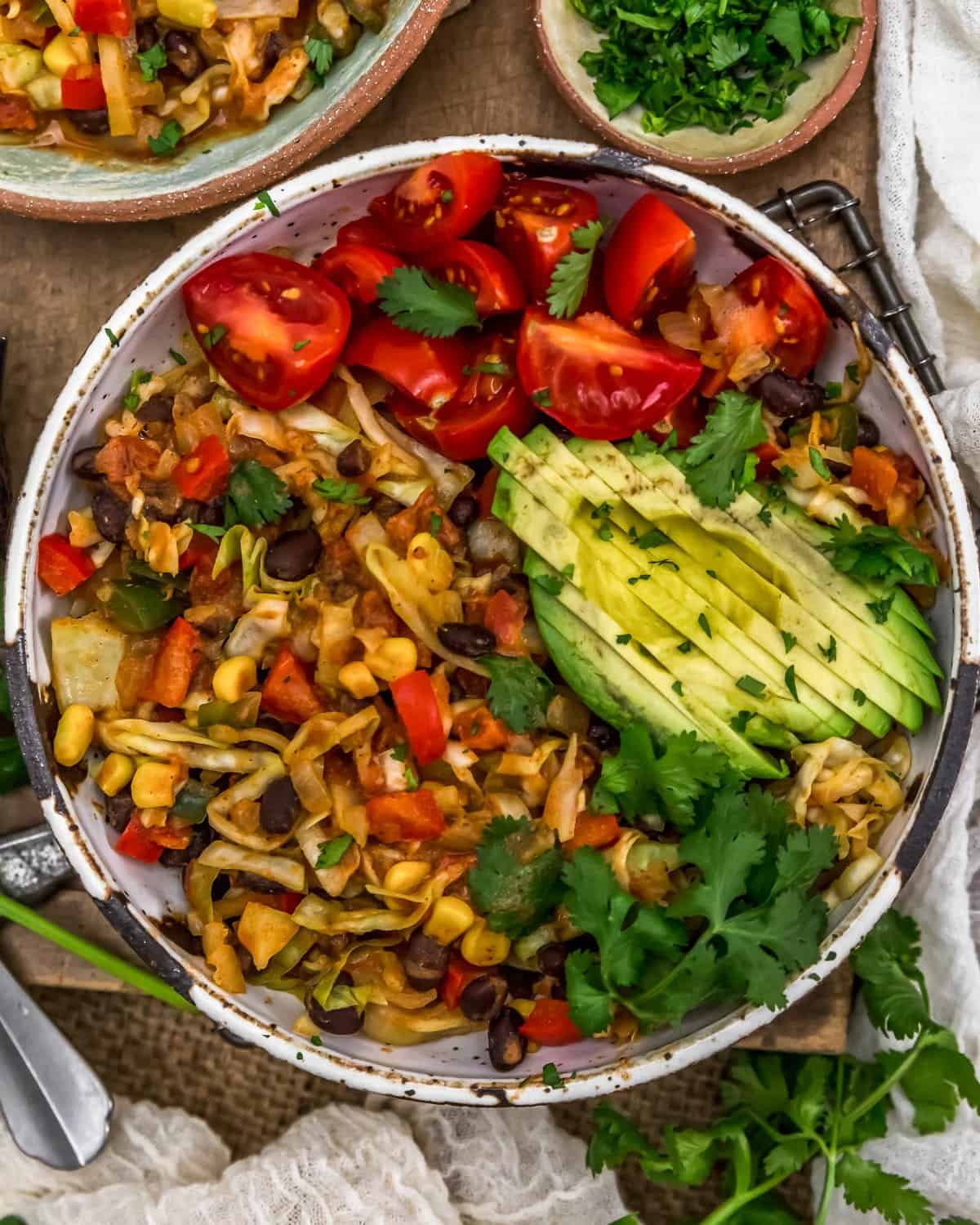 Bowl of Tex-Mex Cabbage Skillet