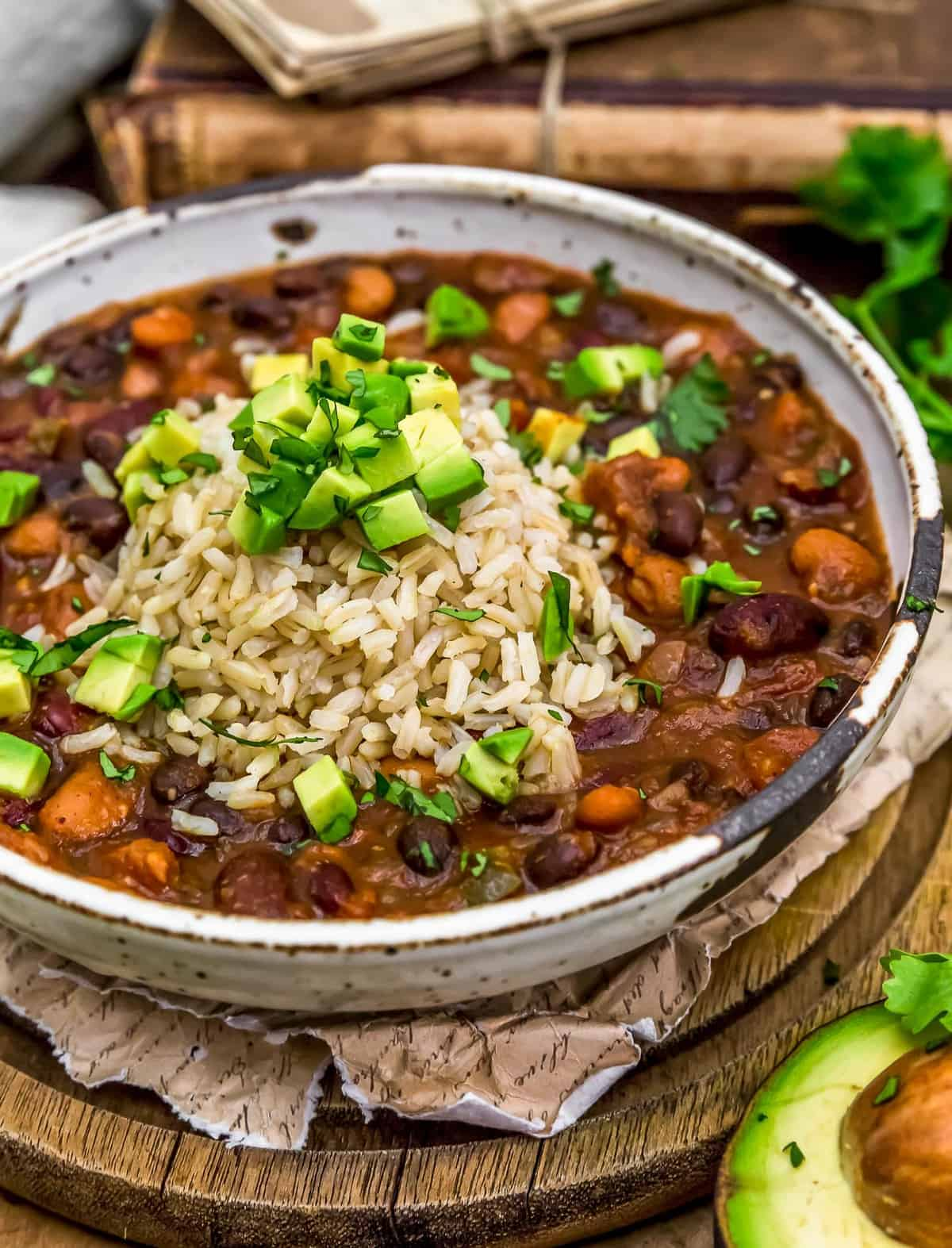 Close up of Vegan Charro Beans