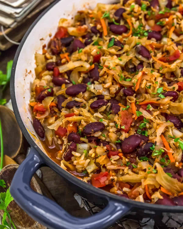Vegan Unstuffed Cabbage Rolls