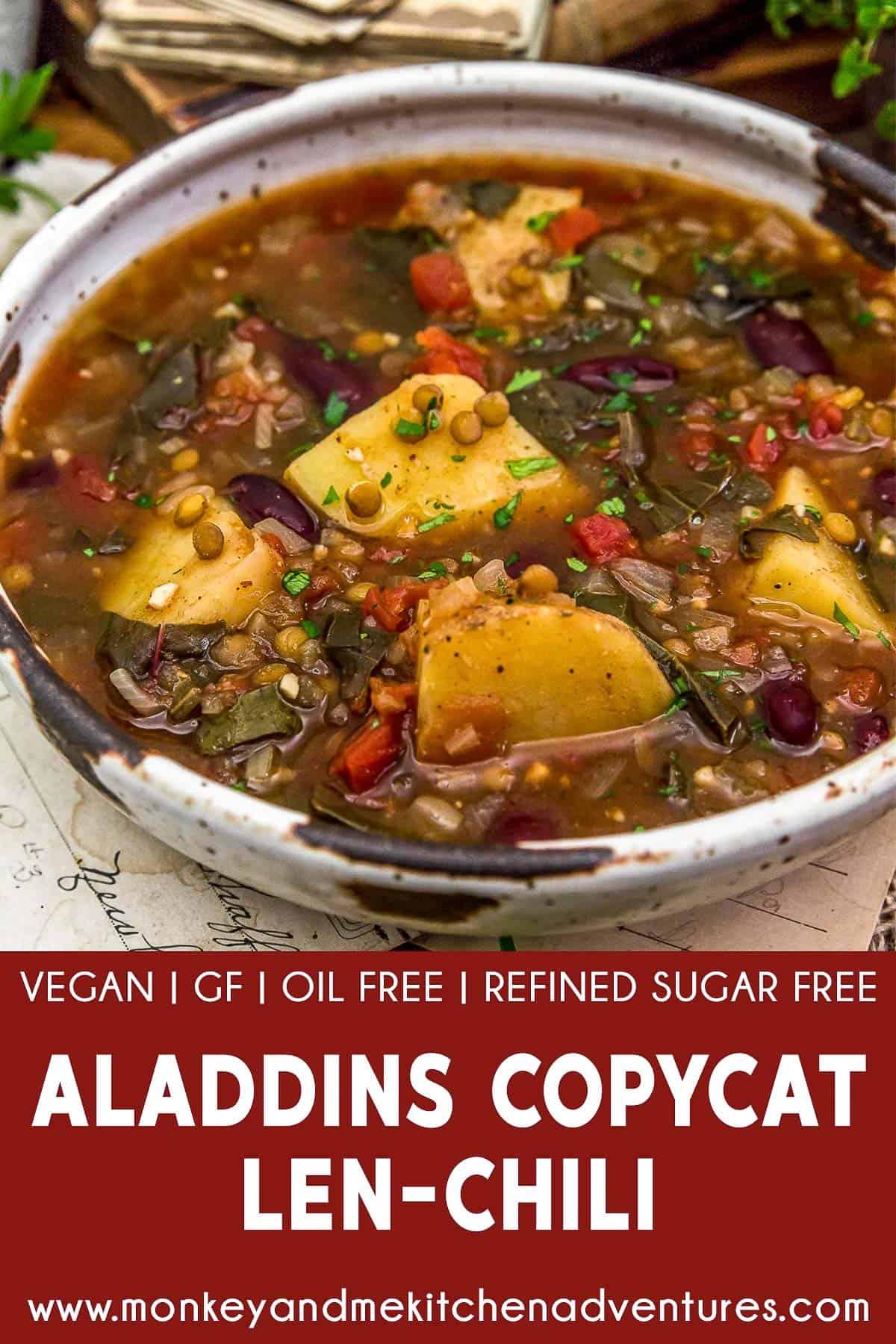 Aladdin's Copycat Len-Chili Soup with Text Description