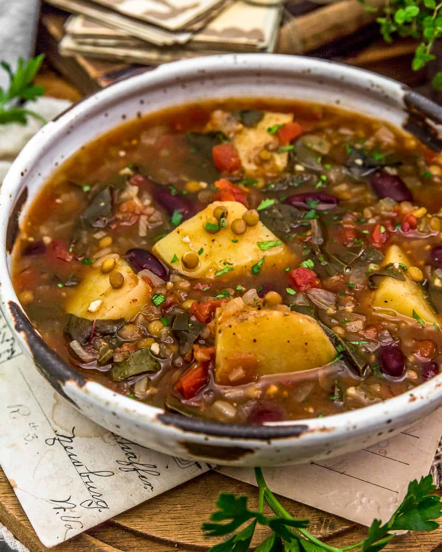 Close up of Aladdin's Copycat Len-Chili Soup