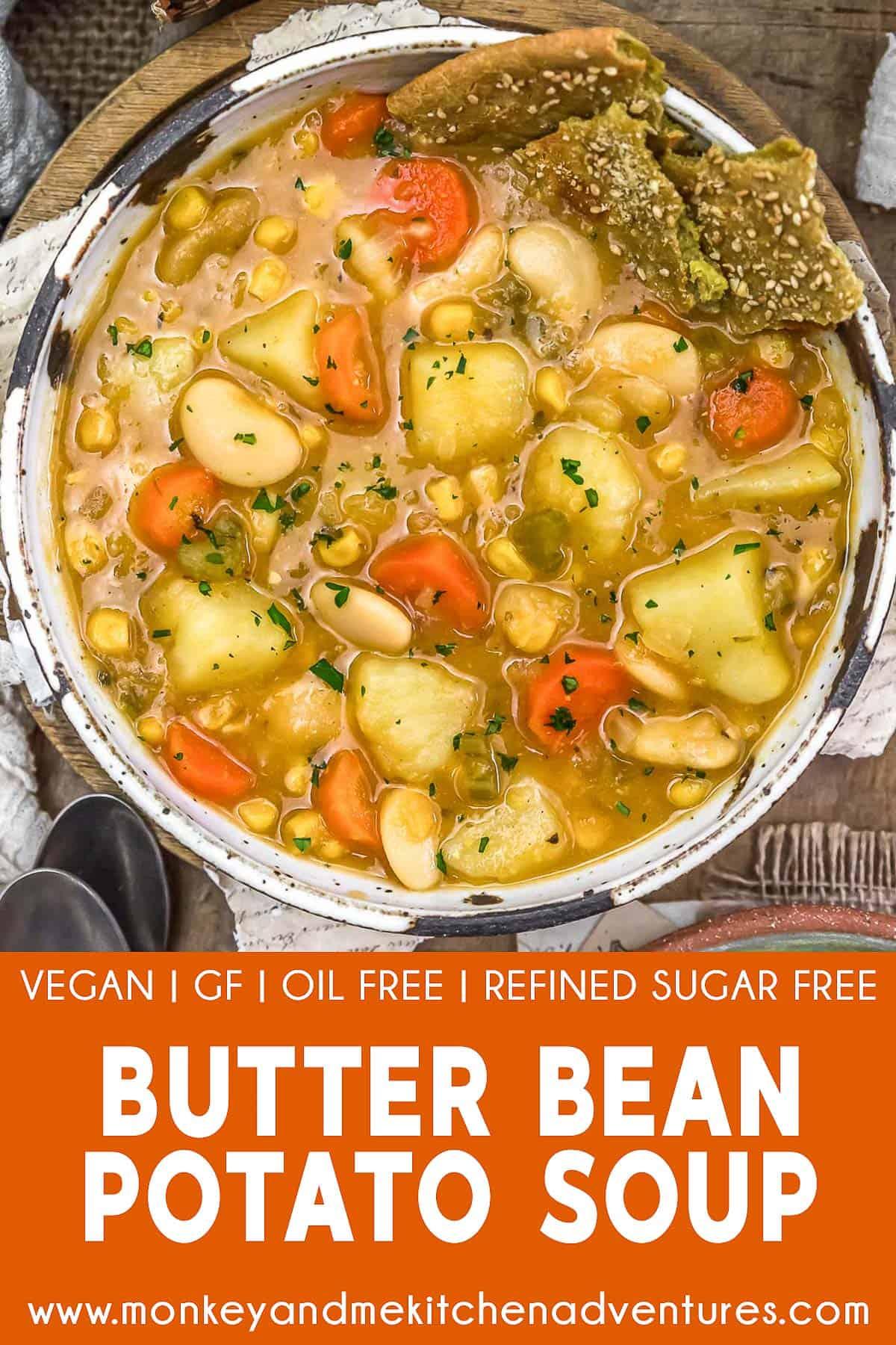 Butter Bean Potato Soup with text description