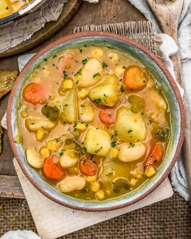 Bowl of Butter Bean Potato Soup
