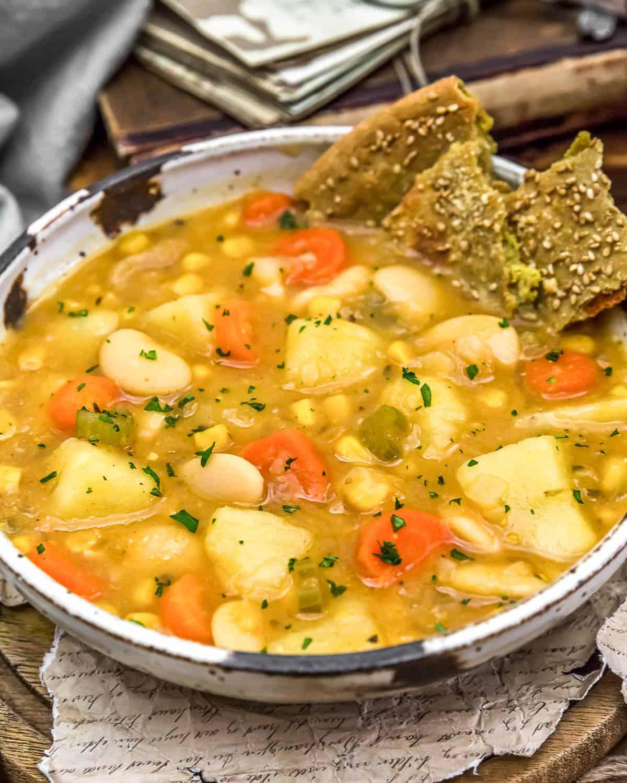 Close up of Butter Bean Potato Soup