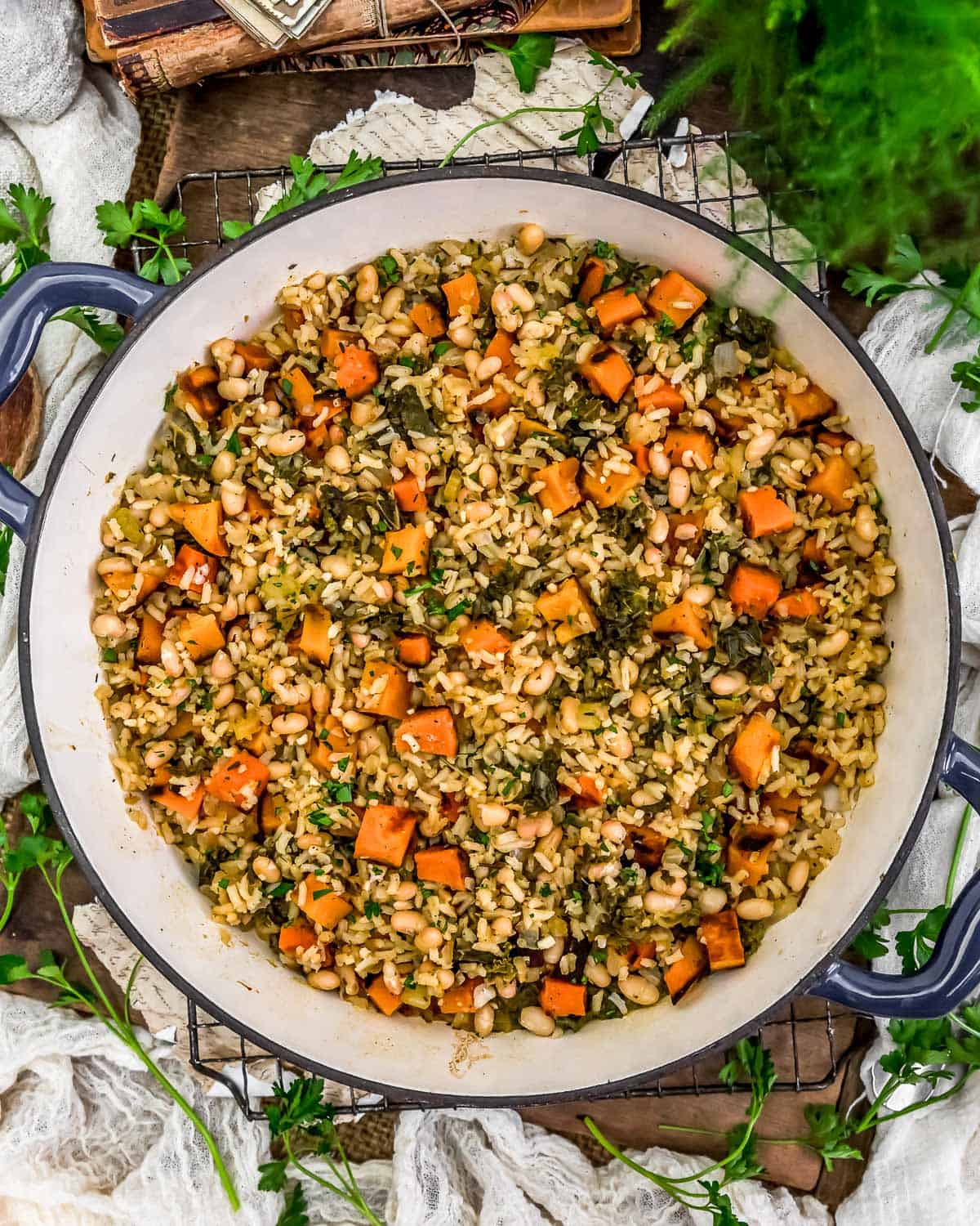 Roasted Butternut Squash Rice Skillet