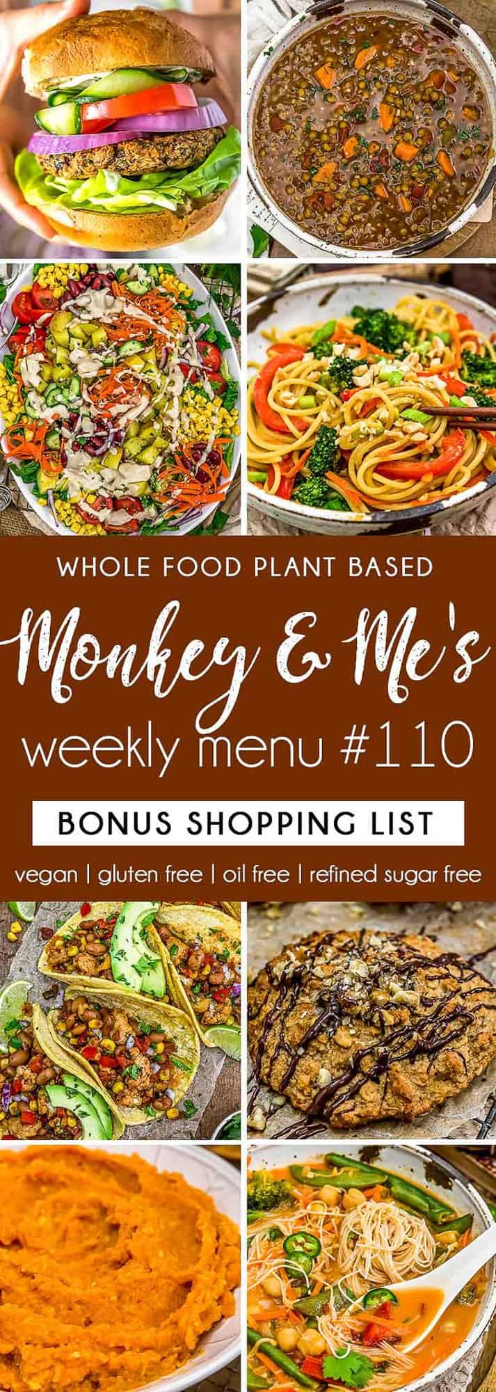 Monkey and Me's Menu 110 featuring 8 recipes