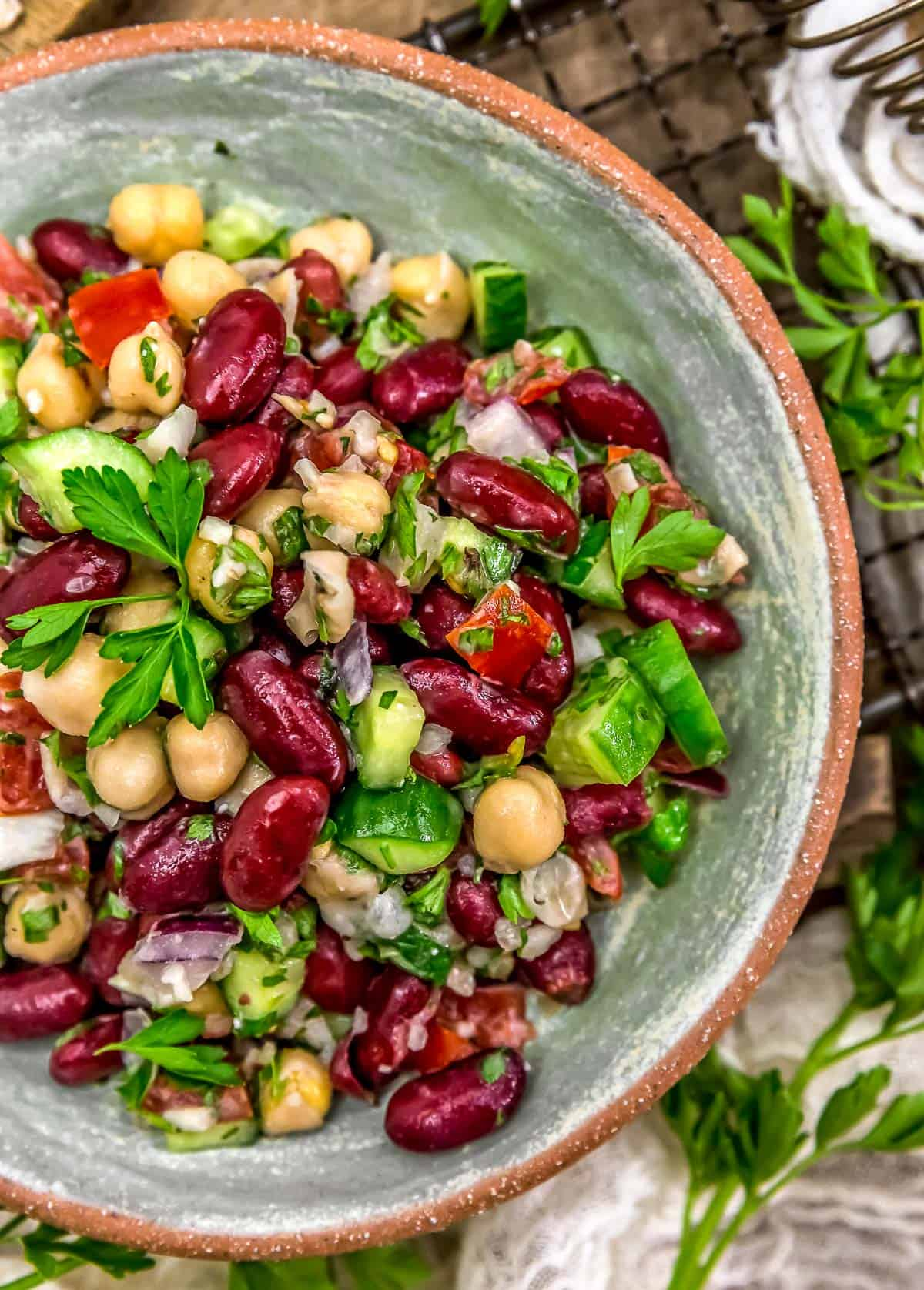 Oil Free Lebanese Bean Salad