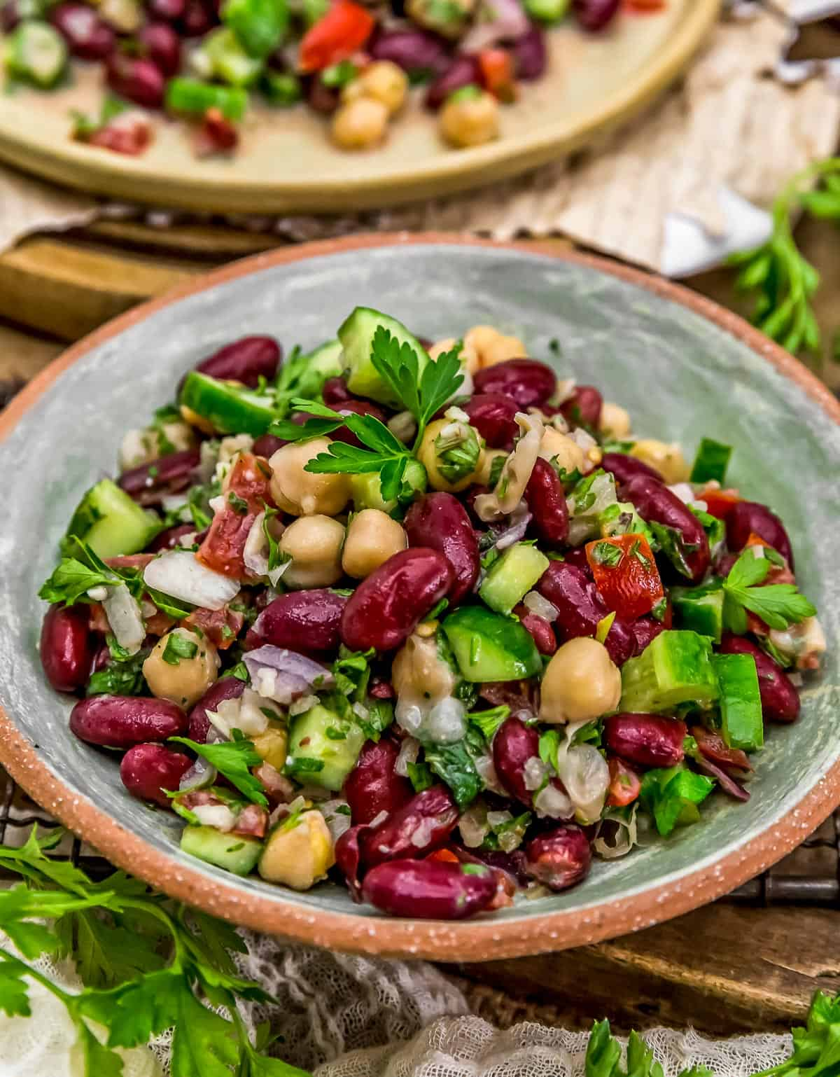Served Oil Free Lebanese Bean Salad