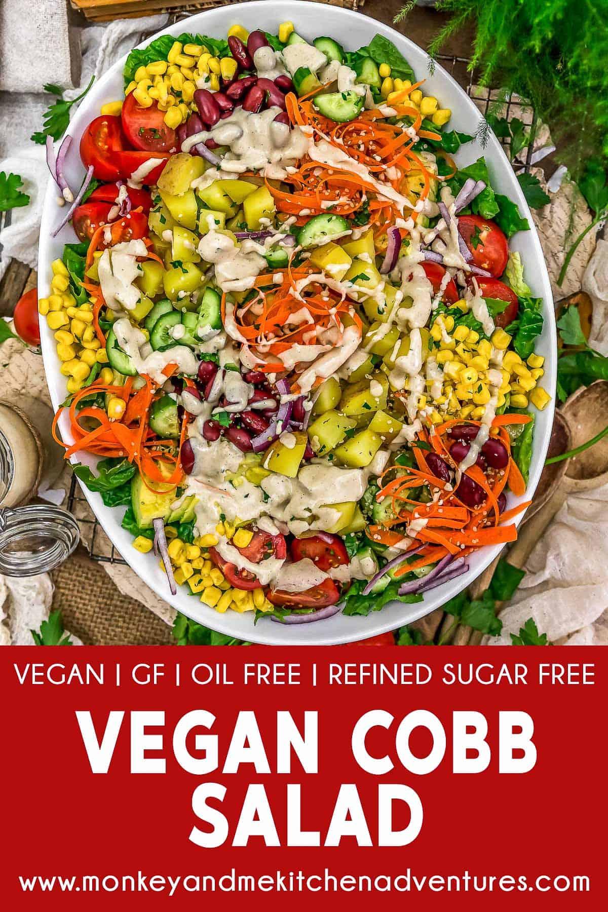 Vegan Cobb Salad with text description