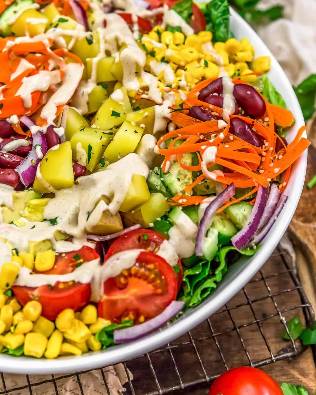 Close up of Vegan Cobb Salad