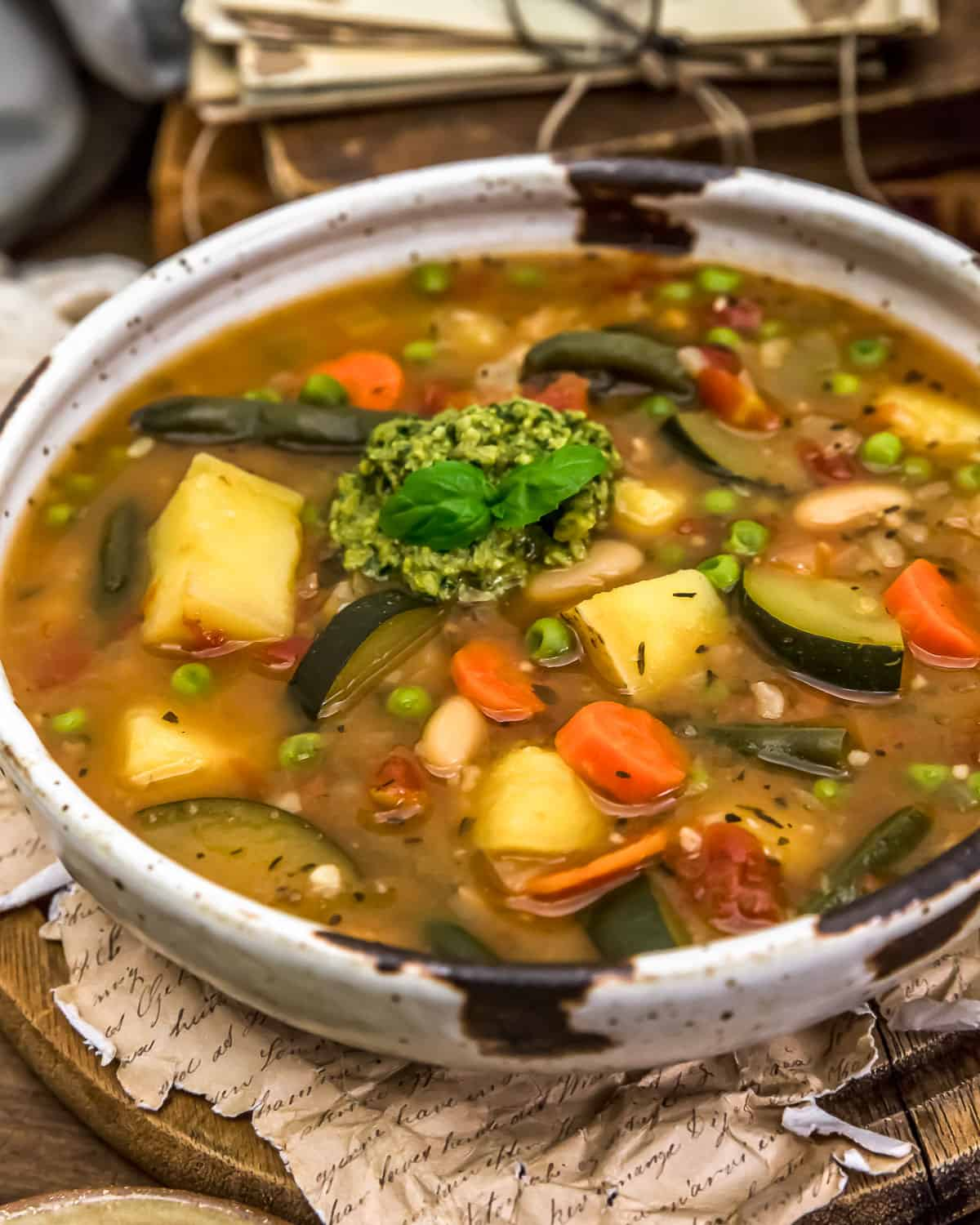 Bowl of French Vegetable Soup