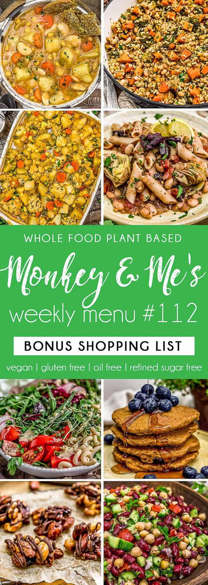 Monkey and Me's Menu 112 featuring 8 recipes