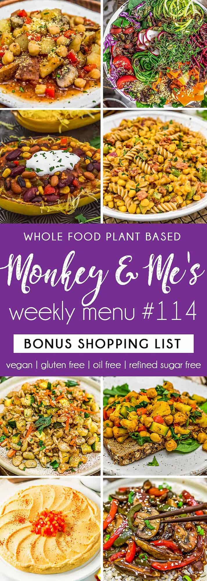 Monkey and Me's Menu 114 featuring 8 recipes