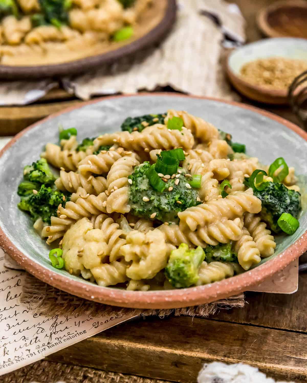 Close up of Vegan Bang Bang Veggie Pasta
