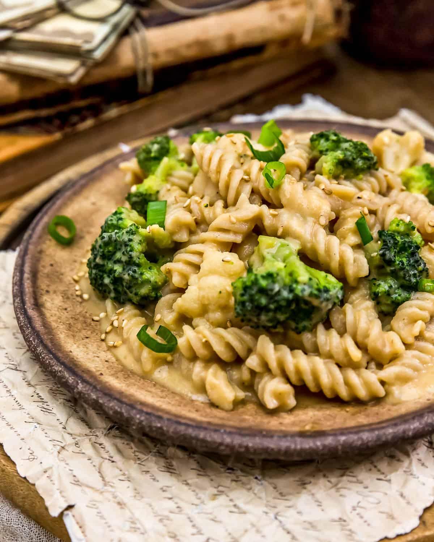 Plate of Vegan Bang Bang Veggie Pasta