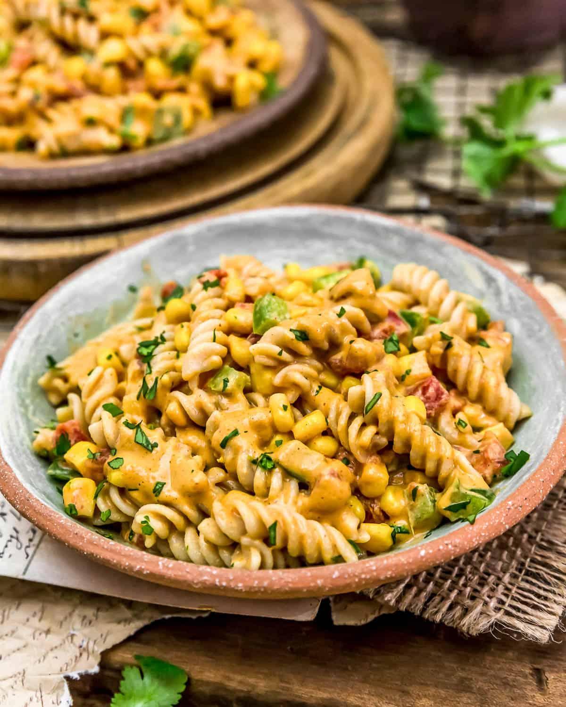 Vegan Creamy Corn Pasta Salad