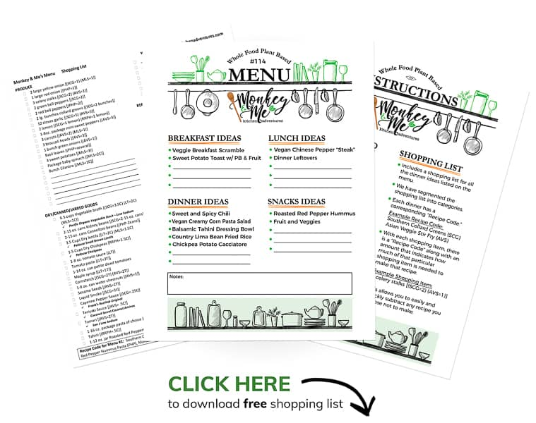 Monkey and Me's Menu 114 PDF Display