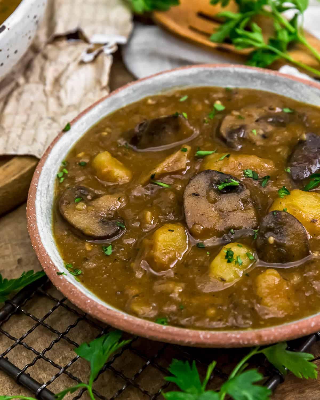 Served Creamy Harvest Mushroom Potato Soup