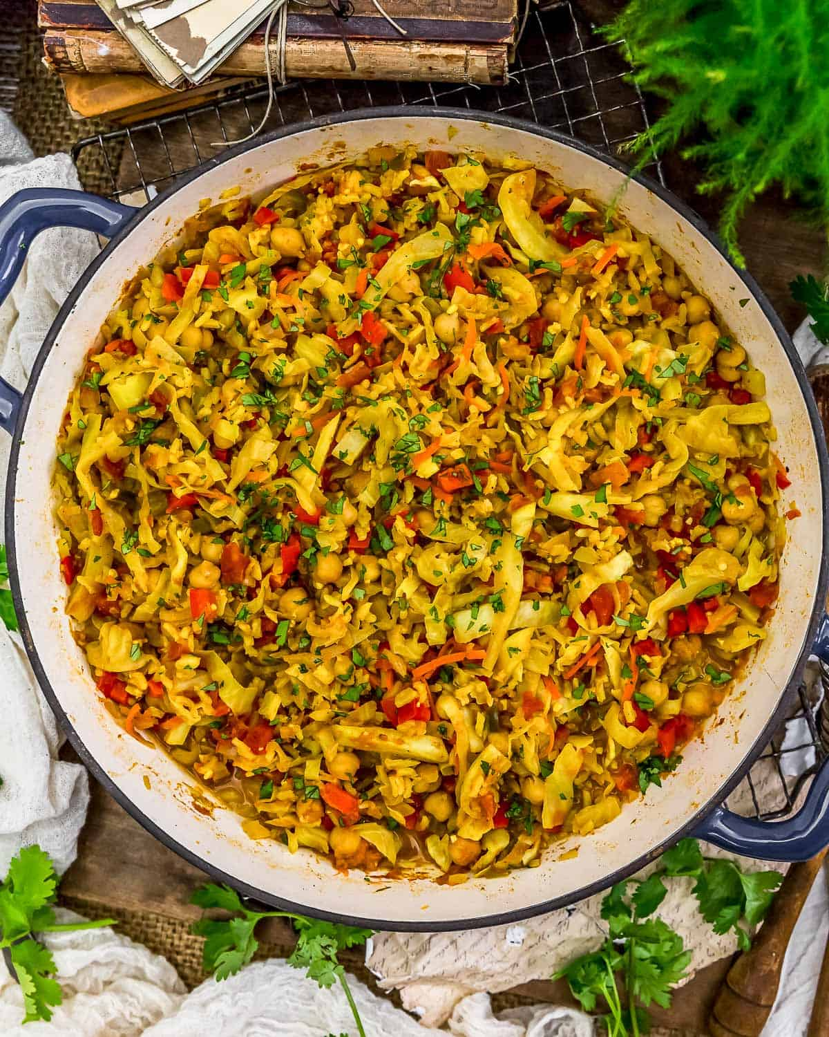 Curry Cabbage Rice Skillet