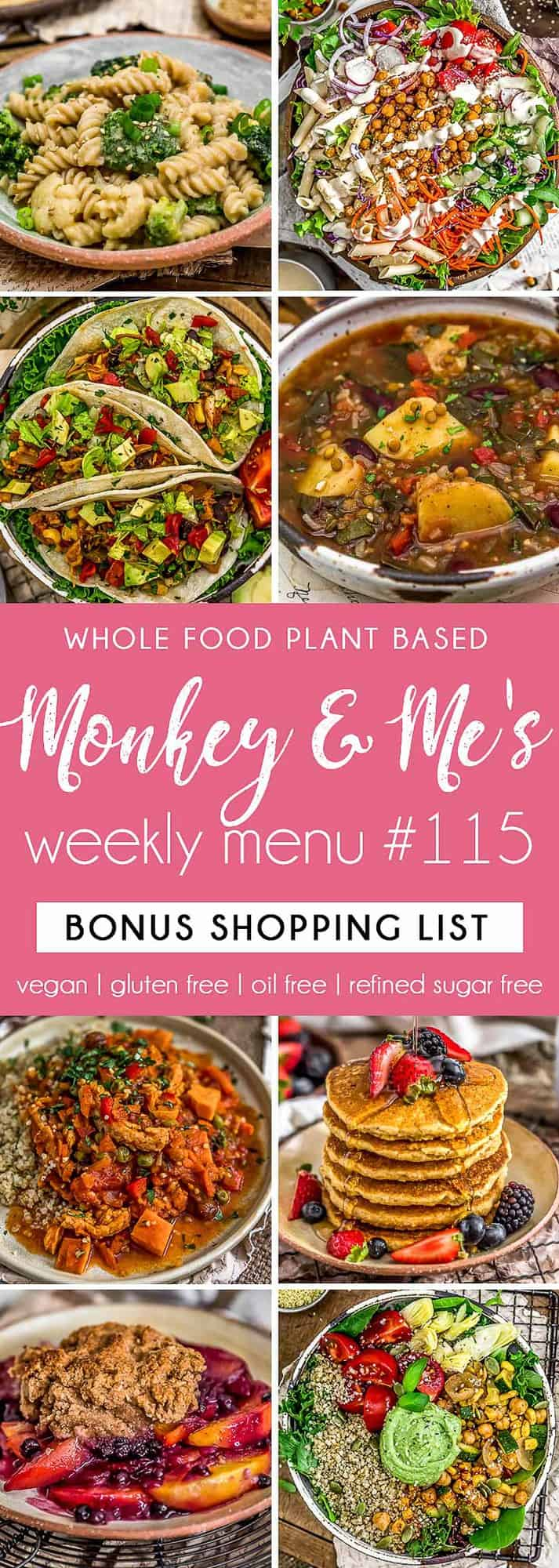 Monkey and Me's Menu 115 featuring 8 recipes