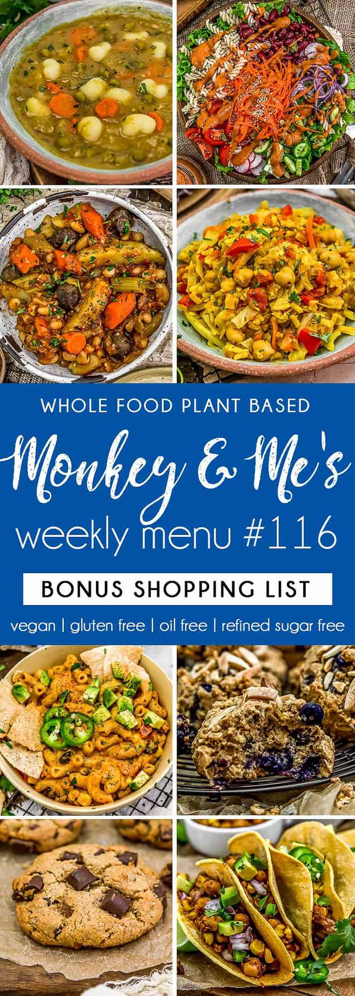 Monkey and Me's Menu 116 featuring 8 recipes