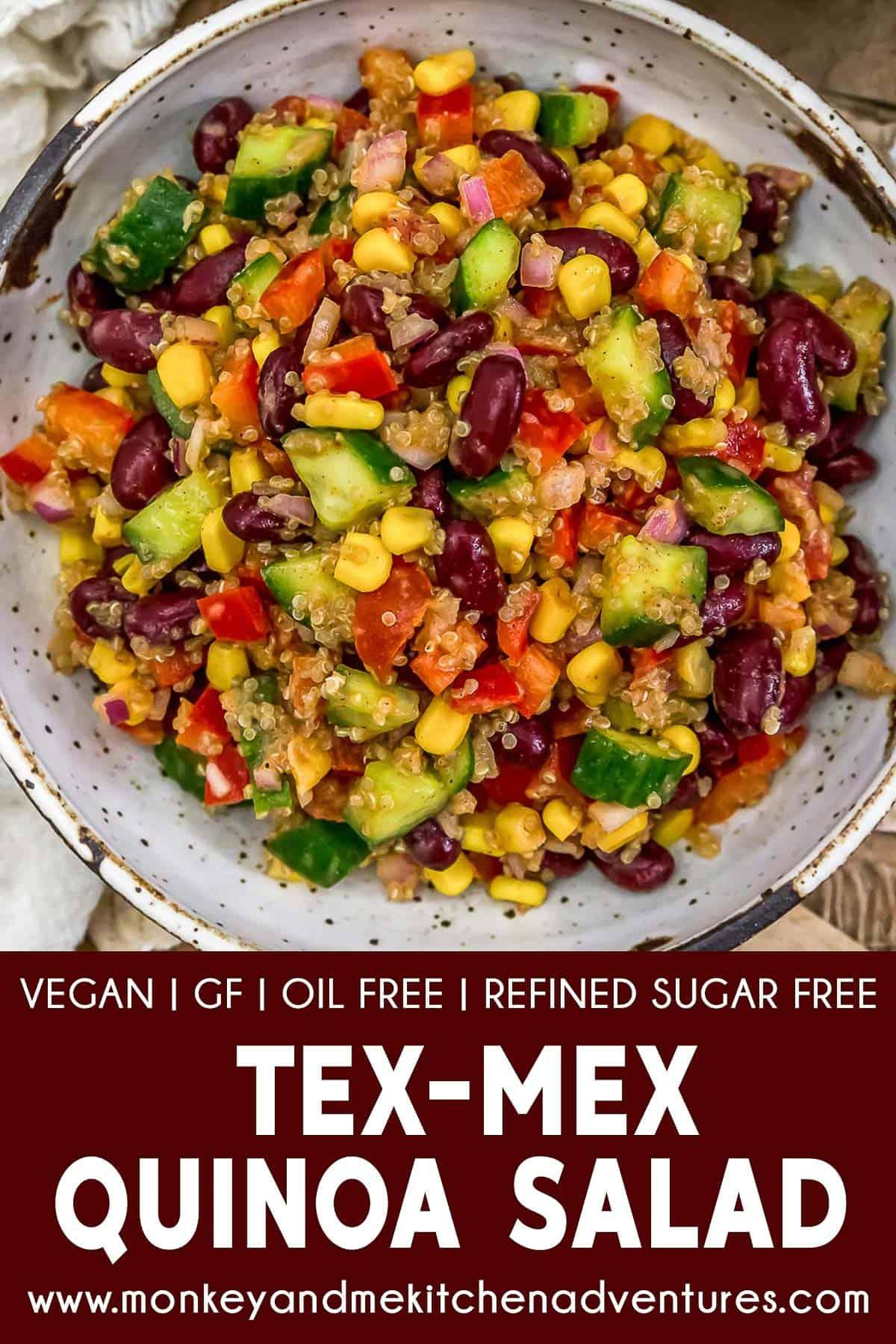 Tex-Mex Quinoa Salad with text description