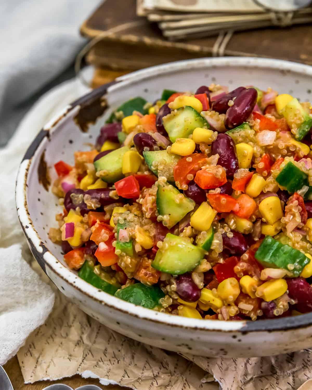 Close up of Tex-Mex Quinoa Salad