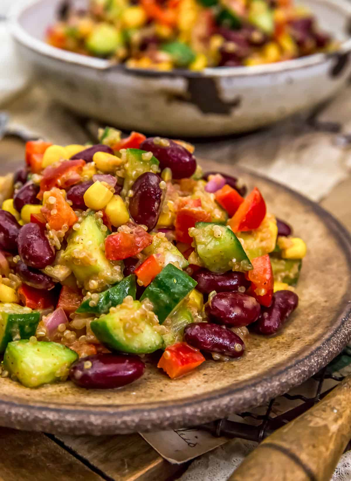 Served Tex-Mex Quinoa Salad