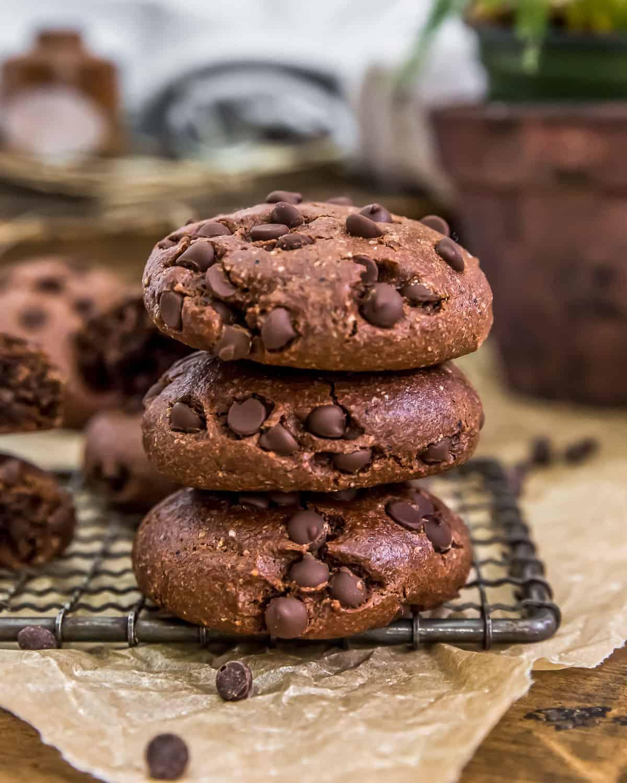 Vegan Mocha Cookies Stacked