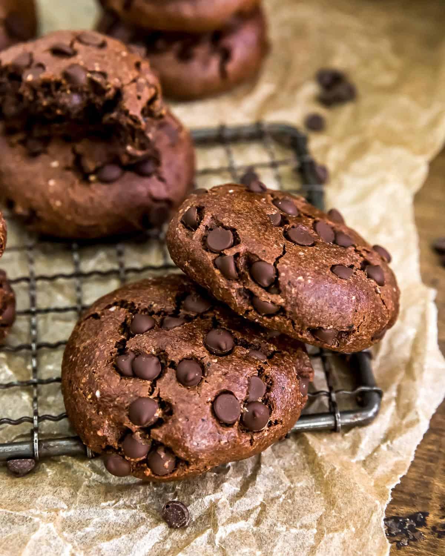 Two Vegan Mocha Cookies