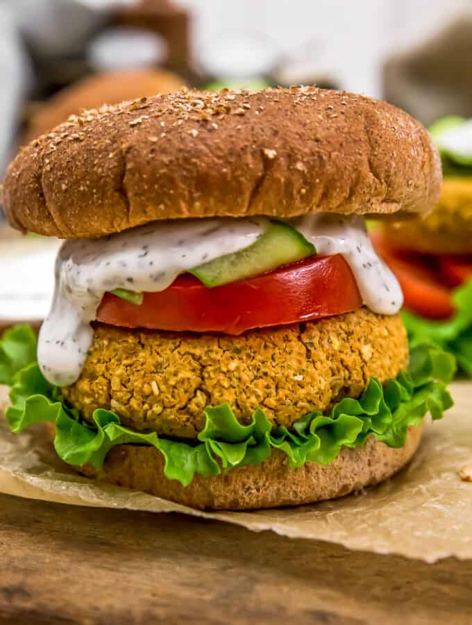 "Vegan ""Salmon"" Burger"