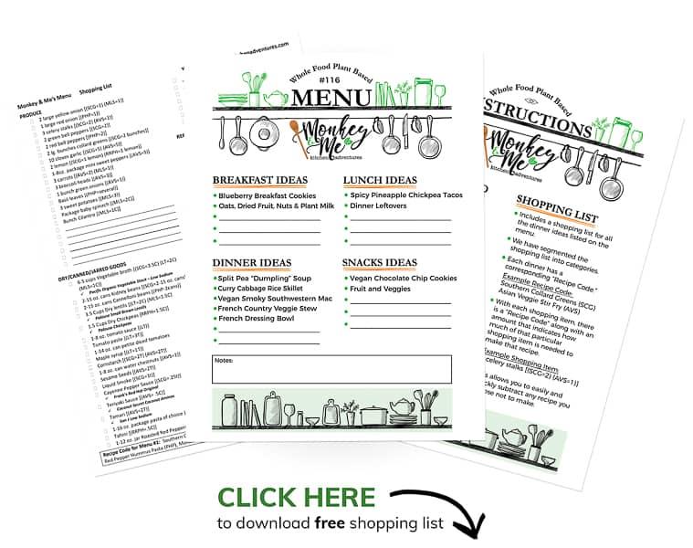 Monkey and Me's Menu 116 PDF Display
