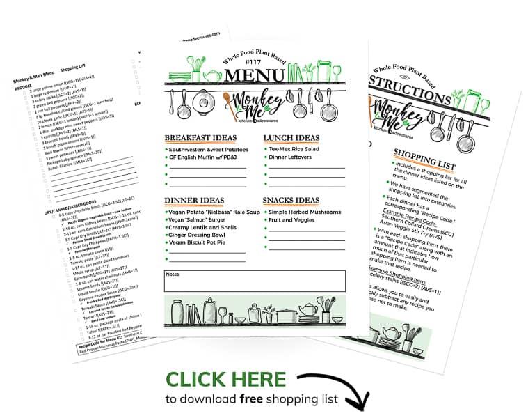 Monkey and Me's Menu 117 PDF Display