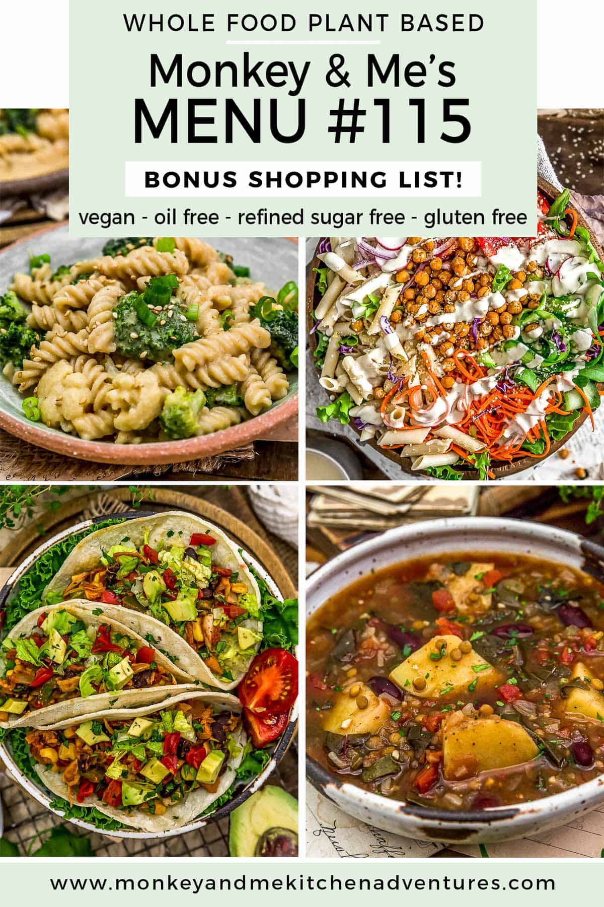Monkey and Me's Menu 115 featuring 4 recipes
