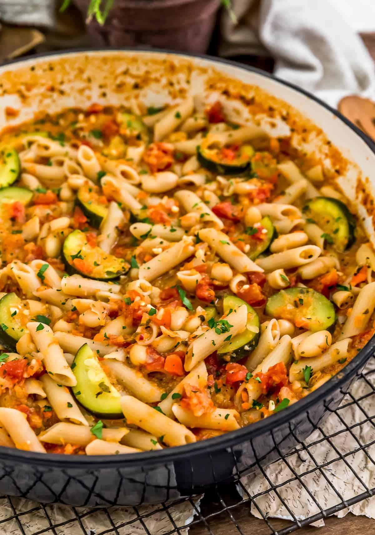 Skillet of Garden Veggie Ragu Pasta
