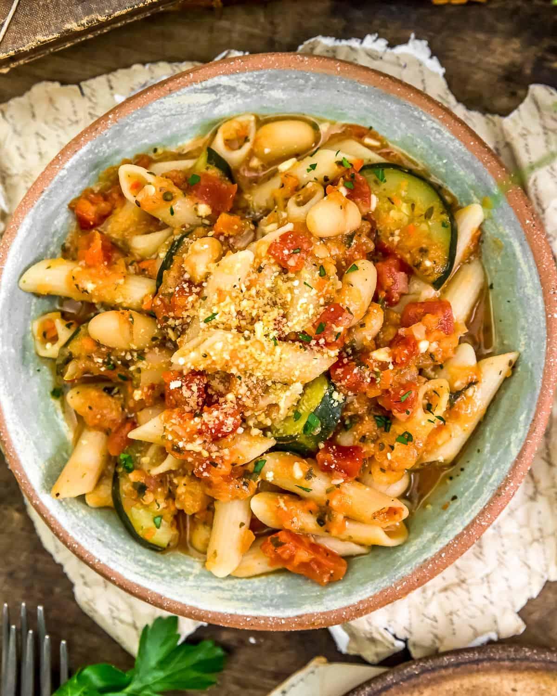 Served Garden Veggie Ragu Pasta