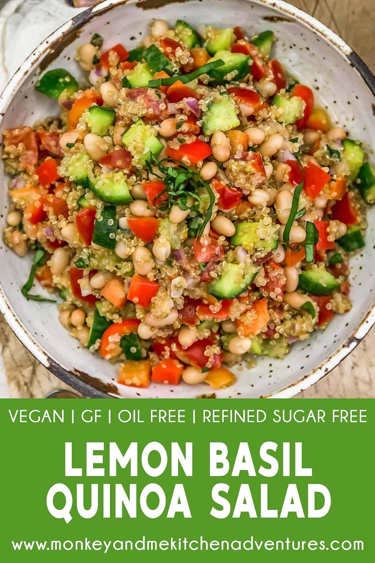 Lemon Basil Quinoa Salad with text description