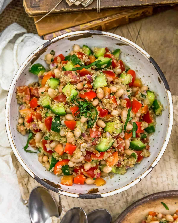 Bowl of Lemon Basil Quinoa Salad