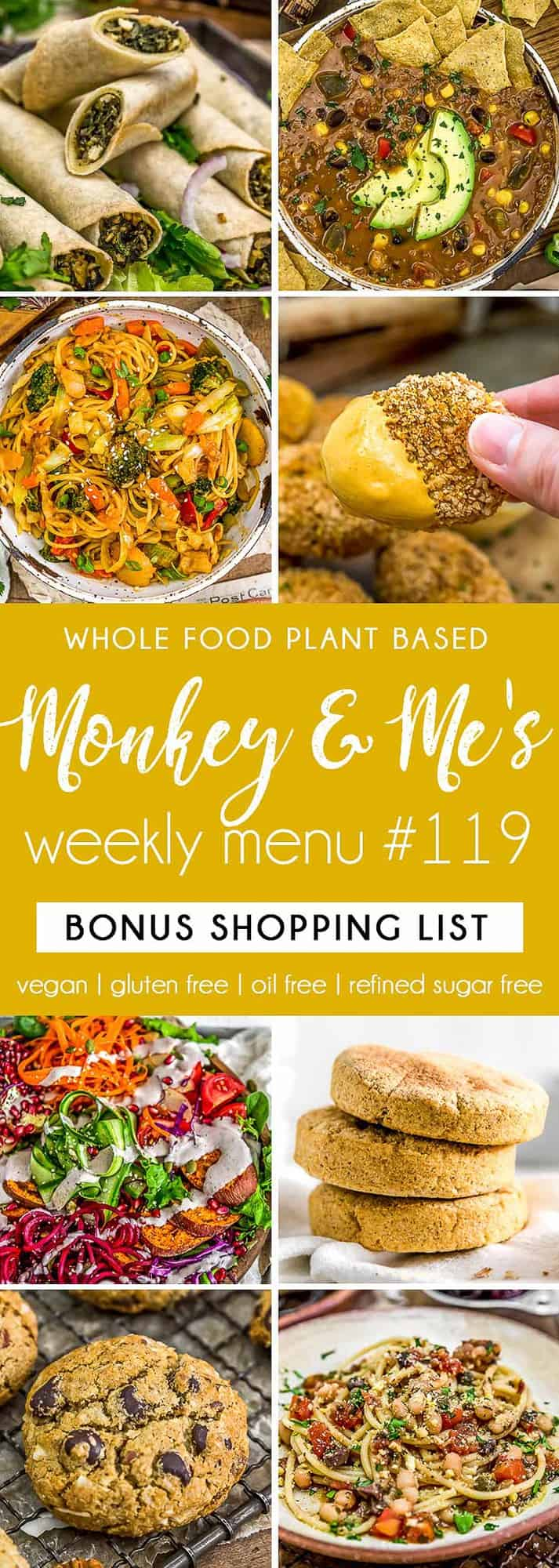 Monkey and Me's Menu 119 featuring 8 recipes